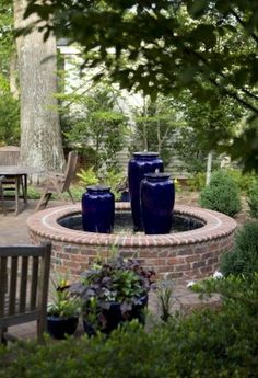 Water fountains for every garden style.