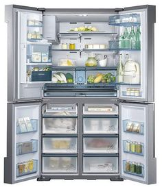French Door Refrigerator With 5 Spillproof Glass Shelves, Automatic  Sparkling Water Dispenser, Metal Cooling, Chef Mode, Fridge In Freezer And  Energy Star ...