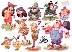 DWAAAAAARFS ! Characters research for Method Animation. Fabien Mense #cute #characters