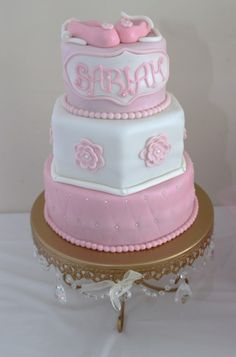Cake at a Ballet Baby Shower #ballet #babyshower
