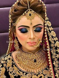 Pakistani Bridal Makeup, Asian Bridal Makeup, Indian Makeup, Bridal Hair And Makeup, Bride Makeup, Indian Bridal, Indian Beauty, Wedding Makeup, Wedding Wear