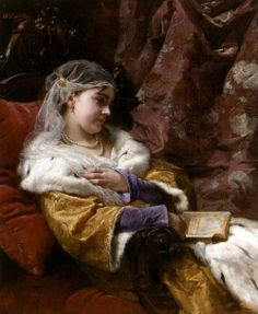 .:. Charles Lucien Muller - A Woman reading