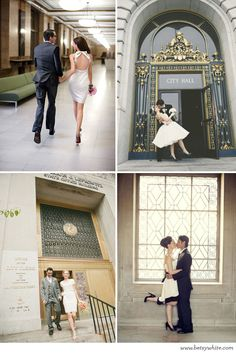 Courthouse weddings can be chic & adorable too!
