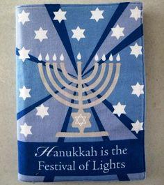 Hanukkah is the Festival of Lights cloth book | cmhCreations - Children's on ArtFire