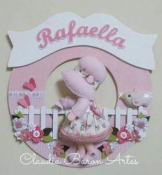Claudia Baron Artes: Guirlandas para porta de maternidade ou decoração infantil (Menina)