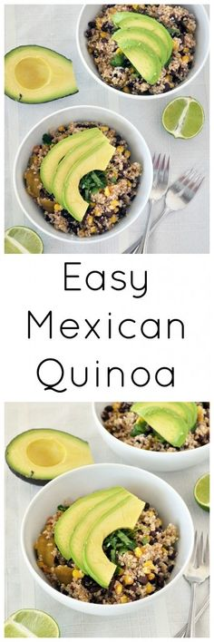 Need a dinner idea? Make this Easy Mexican Quinoa. Nutritious, flavorful and the whole family will LOVE it. Vegan and gluten free. #pulsepledge #lovepulses