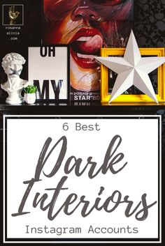 6 Best Dark Interiors Instagram Accounts - if you a dark and sexy interior as much as I do, you have to follow these badass gals who know how to create a glam boho feel with black walls. Inspirational feeds from Abigail Ahern, Cowboy Kate, and some names you may not know yet! These moody homes are my interior design obsession right now.