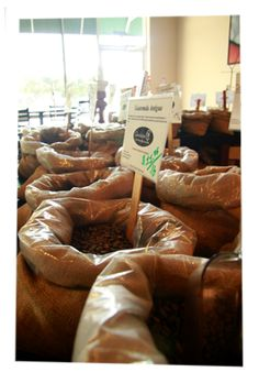 Charleston Coffee Exchange on Bees Ferry Road.  Great for a cup of coffee or the best in roasted coffee beans.  Indian Monsooned Malabar is my bean of choice.