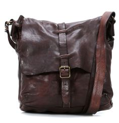 Lavata Cross Body Bag Leather dark-brown 28 cm