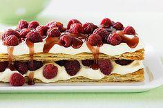 Raspberry & custard cream mille-feuille