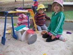 """There is no """"right way"""" to play with sand, you can play it any way you like. When children play with sand they can dig, pour, scoop, carry, draw, make tracks, guess, count, discover things, figure things out, be creative and learn about how things happen.  Sandpit play ideas (Part 2): http://goo.gl/sLhNC"""