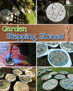 Make stepping stones for your garden is so easy and fun. Kids will love this craft and you can decorate your garden with something truly individual.