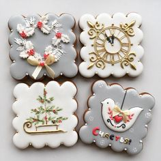 2019 Cute and Beauty Christmas Biscuits Ideas - Page 2 of 4 - Vida Joven Christmas Biscuits, Christmas Tree Cookies, Iced Cookies, Christmas Sweets, Holiday Cookies, Christmas Baking, Christmas Wedding, Gingerbread Cookies, Cookies Cupcake