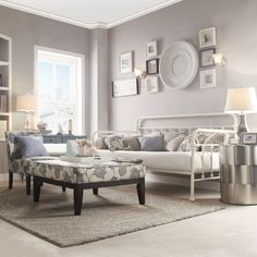 420.99 - Bed - like colors combo.  INSPIRE Q Giselle Antique Graceful Lines Iron Metal Daybed - Overstock Shopping - Great Deals on INSPIRE Q Beds