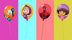 Estourando Balões dos Minions Aprendendo Cores para Crianças com Homem A...