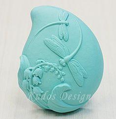 soap mold, silicone soap mold, FL051 Dragon fly Dance (Kudos Design, Kudosoap) Taiwan. $18.00, via Etsy.