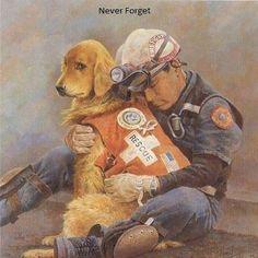World Trade Center 9//11 Sleeping Rescue Dog Silver Halide Photo