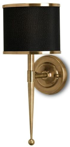 Brass Wall Sconce with Black Shade  sc 1 st  Pinterest & EMILY TODHUNTER COLLECTION ? Lighting - Todhunter EarleTodhunter ...