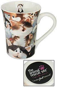 Cozy Kitties Grande Ceramic Mug at The Animal Rescue Site. Funds 14 bowls of food for animals! Just $6.00!