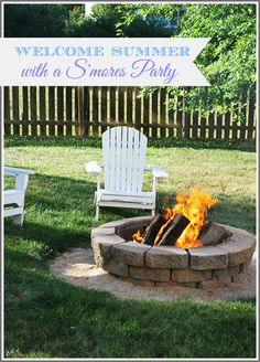 Welcome summer with an easy, kid-friendly S'mores party