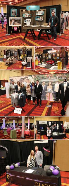 Wedding vendor bridal show booths at the Winter 2014 Murfreesboro Pink Bridal Show | The Pink Bride www.thepinkbride.com