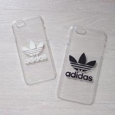Transparente harte Hülle Handyhülle mit Adidas-Logo von ZocanByZoe