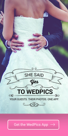Getting married? Your wedding guests will take a lot of photos. Ever wonder how you might see them all? WedPics is the FREE #1 Photo & Video sharing app for weddings! Available on iPhone, Android and Web (for those using digital cameras).