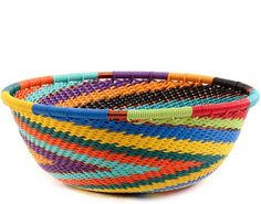 Африканская корзина - Zulu Wire - Маленькая широкая чаша # 60246