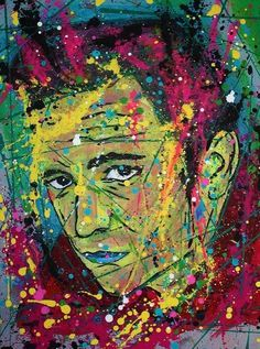 Johnny Cash, signed art print of original pop abstract portrait artwork Country  #PopArt