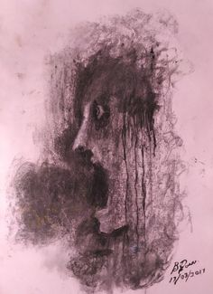 A charcoal drawing on paper about abuse. Charcoal Drawing, Original Art, Abstract, Gallery, Drawings, Paper, Artwork, Painting, Summary