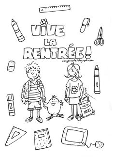 Looking for a Coloriage Imprimer Gratuit Rentrée Scolaire. We have Coloriage Imprimer Gratuit Rentrée Scolaire and the other about Coloriage Imprimer it free. I School, First Day Of School, Primary School, Back To School, Teaching French, French Handwriting, Flags Europe, Teaching Theatre, Back 2 School
