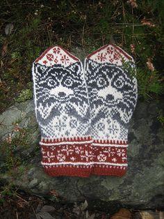 Ravelry: Raccoon Mittens pattern by Natalia Moreva