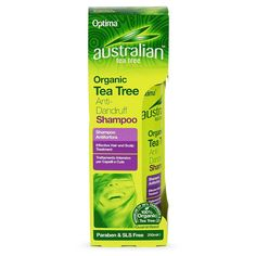 Australian Tea Tree Organic Tea Tree Anti Dandruff Shampoo - Australian Tea Tree Anti - Dandruff Shampoo is ideal for those who are prone to dry, flaky scalps and combines the antiseptic properties of Tea Tree Oil with Piroctone Olamine, a skin friendly anti- dandruff agent. This intensive hair treatment helps to keep the hair healthy, strong and shiny whilst nourishing and moisturising the scalp. Australian Tea Tree, Flaky Scalp, Anti Dandruff Shampoo, Tea Tree Oil, Healthy Hair, Whitening, Moisturizer, Organic, Skin Care
