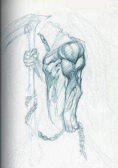 Joe Madureira ! Fansite: Darksiders II 'Death' Character Development Sketches