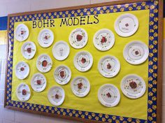 Bohr Models- More Middle School Science Bulletin Boards- Would arrange like the periodic table