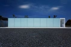 Translucent panels form the main facade of the Luminous House by Shinichi Ogawa & Associates. Austere and nice.