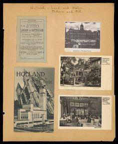 Althea Hurst scrapbook, 1938. Rotterdam and Amsterdam