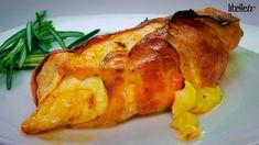 Uit de oven: malse kippenborst met kaas en spek