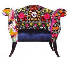 Bokja's re-upholstered antique furniture.