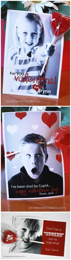 I love that I can use my kid's picture!  FREE Classmate Valentine's Day PRINTABLES using your child's photo!  #valentinesdayprintables #valentines #classmatevalentines #printablevalentines #freevalentinesprintables