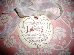 Little Lambs Bible Verse  Easter Tags  He by tinkerbellshop, $4.50