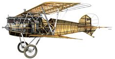 1917 Albatros D.V. Luftstreitkrafte - Fighter. Engine: Mercedes D.IIIau 6 cyl SOHC, liquid cooled, inline engine (200 hp). Armament: 2 x 7.92 mm LMG 08/15 machine gun. Max Speed: 116 mph (186 km/h)