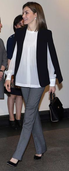 Royals & Fashion - Queen Letizia attended a working meeting with the Spanish Committee for the disabled, which was held in Madrid.