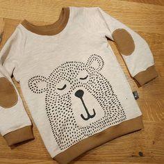 Lil bear aus der ottobre 4/16 #nähenfürjungs #ottobredesign #mamahoch2 #autumnrockers #bär #stoffmalfarbe
