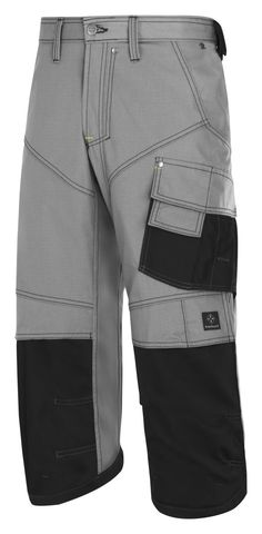 The trousers you know and love, but slightly #shorter. These Rip-Stop #pirates offer all the functionality you need, like Cordura® reinforcements, Twisted Leg™ design and the KneeGuard™ positioning system. And of course you have all the #pockets you need. Available in three colors. - Snickers Workwear Artnr. 3913
