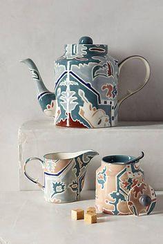 Sucrier sugar céramique rose a motifs H 15 cm D 10 cm Katie Alice Creative Tops