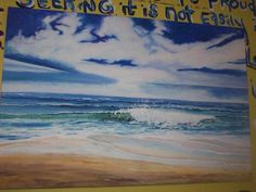 Ocean waves.... I love you more than all the waves in the ocean. Painted for my daughter, Sarah