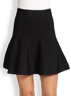 BCBGMAXAZRIA Ponte Knit Flare Skirt - Click link for product details :)