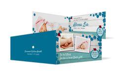 Geburtskarten online drucken lassen - kartenmacher Baby, Die Cut Cards, Thanks Card, Templates, Ideas, Infants, Baby Humor, Babies, Infant