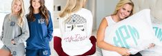 Monogrammed PJ's Collection🥰 – United Monograms Monogrammed Pajamas, Comfort Colors, Monograms, Pjs, Tshirt Colors, Boyfriend, Comfy, V Neck, Fancy